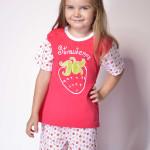Bavlněné dětské pyžamo Strawberry
