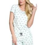 Bavlněné pyžamo Rozi tyrkysové