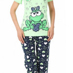 Bavlněné pyžamo Žabka capri