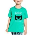 Chlapecké bavlněné pyžamo Damian Superhero zelené