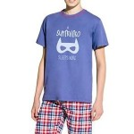 Chlapecké pyžamo Damian Superhero modré