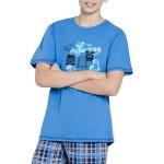 Chlapecké pyžamo Franta modré