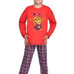Chlapecké pyžamo Mimoň super hero červené