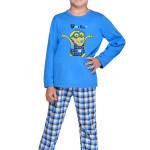 Chlapecké pyžamo Mimoň super hero modré