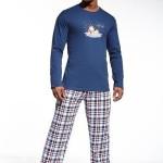 Cornette I Like Snow – Pánské pyžamo dlouhé modré