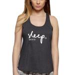 Dámské letní pyžamo Sleep tmavě šedé