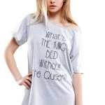Dámské noční triko Queen of the bed šedé