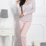 Dámské pyžamo 1187 Rebeka grey-pink