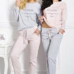 Dámské pyžamo 1190 Nadia grey-pink