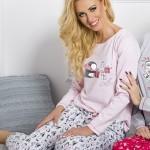Dámské pyžamo 1193 Oda pink-grey