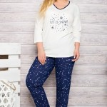Dámské pyžamo 146 ecru-blue