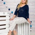 Dámské pyžamo 293 Lena dark blue
