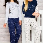 Dámské pyžamo 965 blue-grey