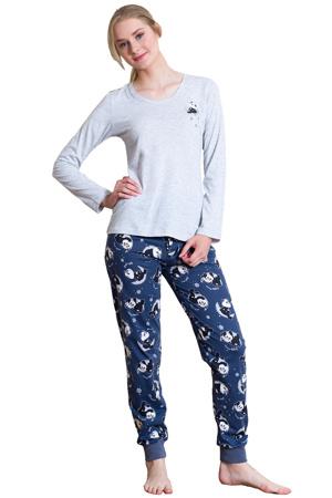 Dámské pyžamo Amy šedé  ad4f5a61de