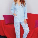 Dámské pyžamo Betty modré