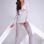 Dámské pyžamo Blanka 1023-01 brown
