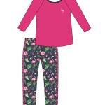 Dámské pyžamo Cornette 184/201 Flamingo3 dk/r S-2XL