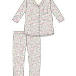 Dámské pyžamo Cornette 682/196 Flowers 3 dl/r S-2XL