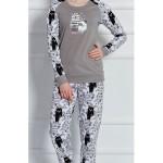 Dámské pyžamo dlouhé Černá kočka