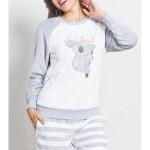 Dámské pyžamo dlouhé Koala s mašlí