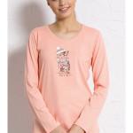 Dámské pyžamo dlouhé Kočka s čepicí