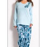Dámské pyžamo dlouhé Květy