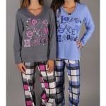 Dámské pyžamo dlouhé Love & peace