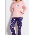 Dámské pyžamo dlouhé Panda a hvězdy