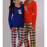 Dámské pyžamo dlouhé Pes a polštář