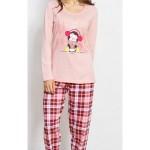 Dámské pyžamo dlouhé Tučňák se šálou