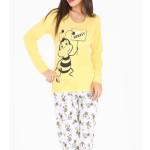 Dámské pyžamo dlouhé Včela Lovely