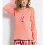 Dámské pyžamo dlouhé Zajíc v pláštěnce