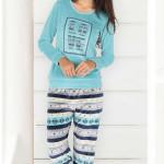 Dámské pyžamo – domácí úbor Dita petrolejová