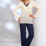Dámské pyžamo Donna Sonia PJ cream