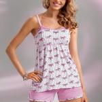 Dámské pyžamo Donna Tifani PJ 1/2 pink