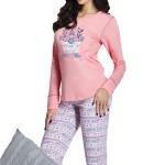 Dámské pyžamo Elza růžové dlouhé