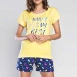 Dámské pyžamo Italian Fashion Mariposa kr.r. kr.sp.