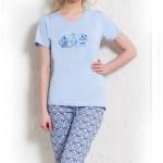 Dámské pyžamo Judit světle modré