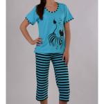 Dámské pyžamo kapri Zebra s proužkem