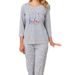 Dámské pyžamo Lenka šedé