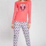 Dámské pyžamo Lezly raspberry