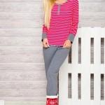 Dámské pyžamo Lisa 2120 red