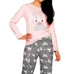 Dámské pyžamo Oda 1193 pink-grey