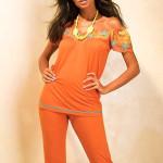 Dámské pyžamo Q-124 orange