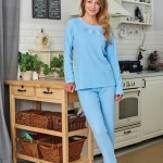 Dámské pyžamo Regina Frotte 741A 2XL dł/r