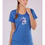 Dámské pyžamo s krátkým rukávem Liška a měsíc