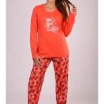 Dámské pyžamo Sněhulák a vločky 5010 – Vienetta