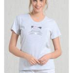 Dámské pyžamo šortky Kočka s fousky