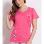 Dámské pyžamo šortky Malá žirafa