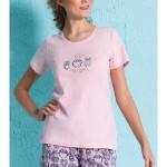 Dámské pyžamo šortky Malé sovy